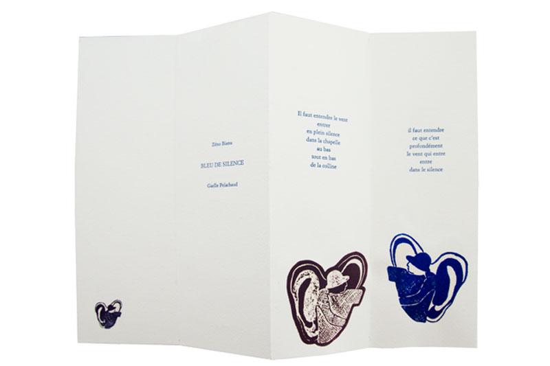 Livre Bleu de silence Gaelle Pelachaud