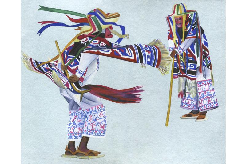 Danse-Mexique- Aquarelle-Gaëlle Pelachaud
